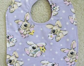 Purple Puppies Bib