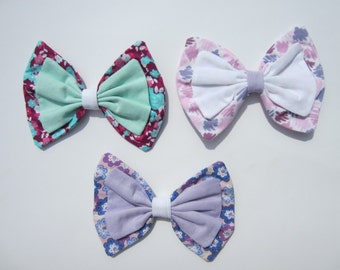 Flowers and Brushes Lolita Hair Bows