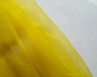 Yellow Organza fabric by the yard wedding party crafts tutu