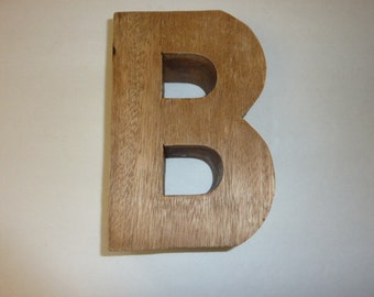Vintage Solid Wood Letter B Initial B Home Decor
