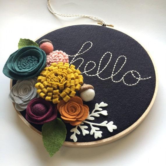 Embroidery ring wall art makaroka