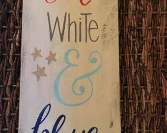 4th of july sign, 4th of july decor