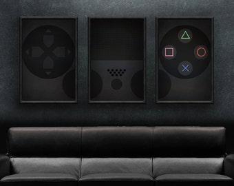 "Playstation Art - 18"" x 36"" PS4 Controller Print Set"