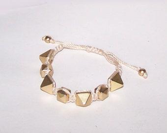 Spike Bracelet / Gold / Blush / Matte / Satin / Woven Spike Bracelet / Bangle / Stackable