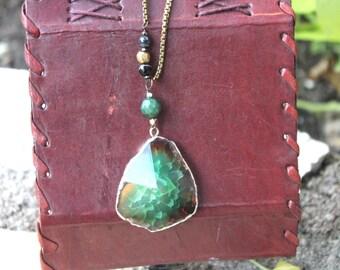 Emerald Agate Necklace