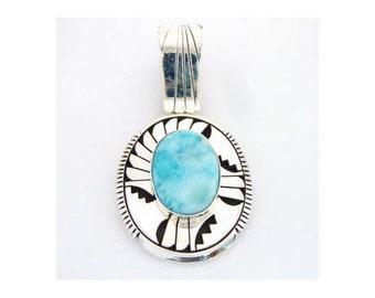 Navajo Larima Pendant Sterling Silver