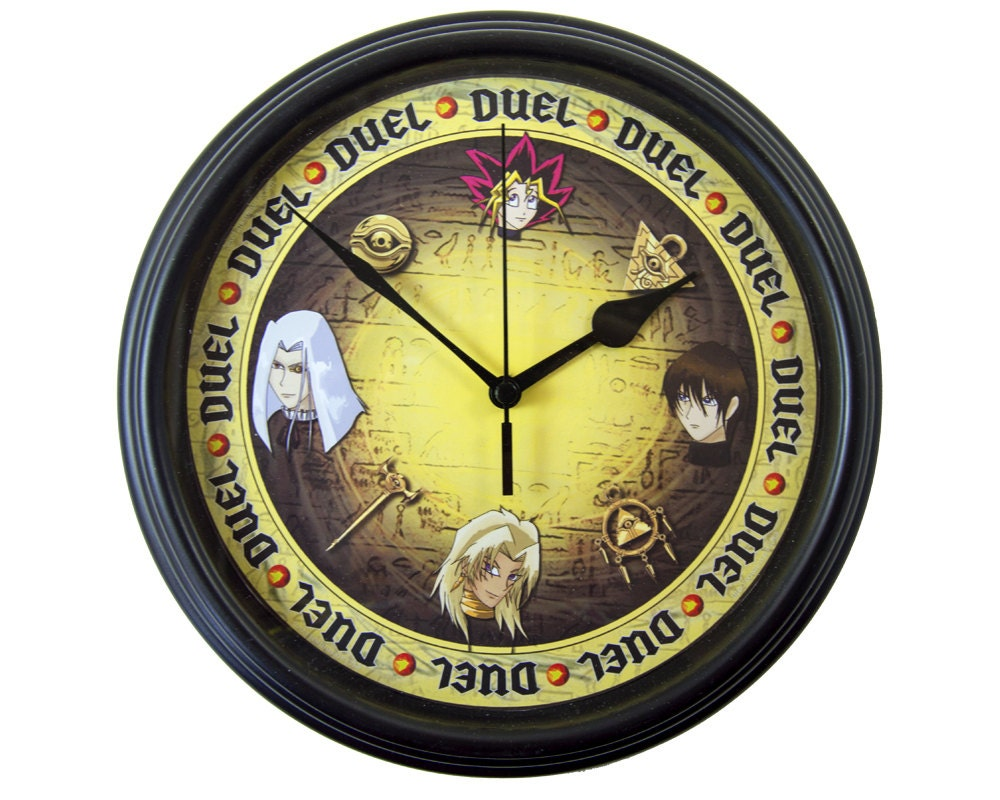 Yu gi oh its time to duel wall clock anime wall zoom amipublicfo Image collections