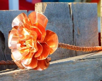 Vintage Style Copper Rose