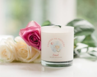 New Baby Powder Luxury Scented Candle, Baptisim Personalized Candle gift,Personalised Christening gift Baby, Personalised Remembrance Candle
