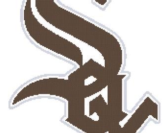 White Sox -- Counted Cross Stitch Chart Patterns, 3 sizes!