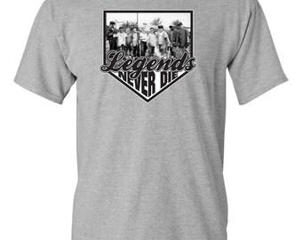 LEGENDS NEVER DIE Sandlot Baseball Movie Smalls Men's Tee Shirt 1125