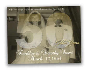 50th Wedding Anniversary Gift - Wedding Anniversary Gift - 50th Anniversary Ideas - Golden Anniversary - Gift - 50th wedding