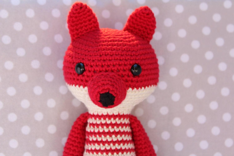 Knitting Pattern For Long Legged Doll : Crochet Long legged fox doll % 100 cotton Ready to ship