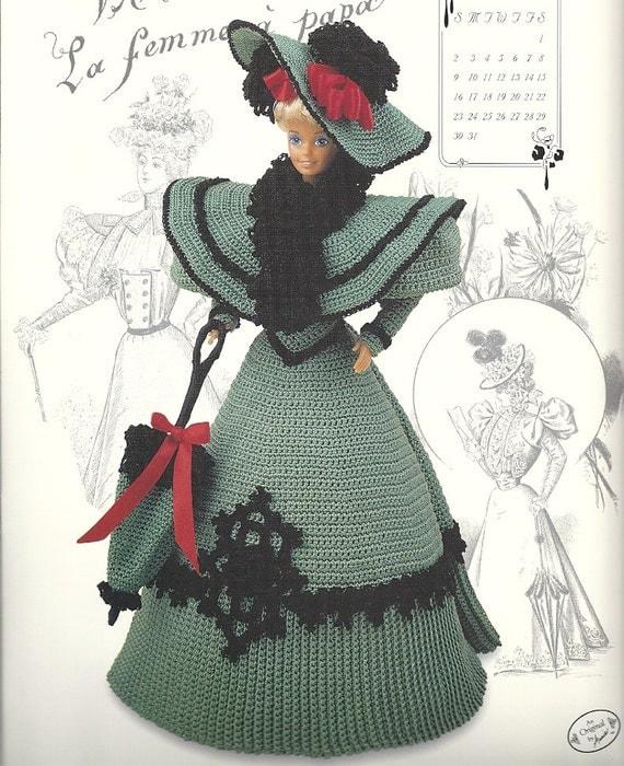 Fashion Doll Dress Cape Crochet Pattern October Gay Nineties