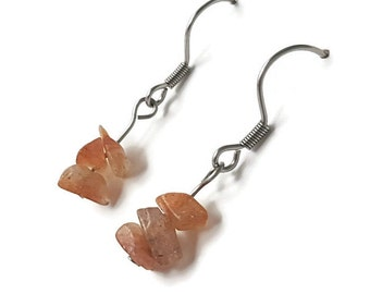 Sunstone jewelry, healing crystals and stones, healing gemstone jewelry, sunstone earring, gemstone earring lucky jewelry lucky earring ahin