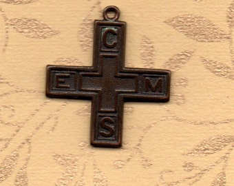 Church of England Men's Society GENUINE VINTAGE BRONZE membership cross in great original condition and highly collectible