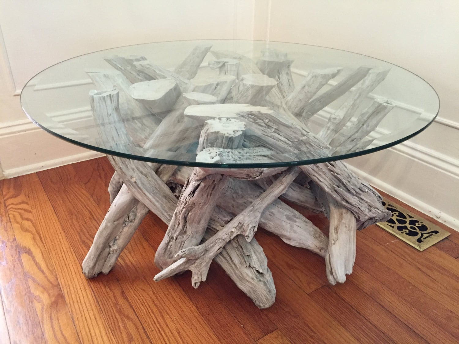 driftwood coffee table style 3 handmade from reclaimed