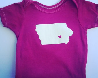 Customized State Onsie - Pick your town and state