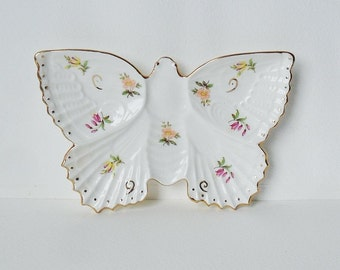 Butterfly Pin Dish Oakley Fine Bone China Decorative Floral Ornament Porcelain Nice Gift