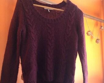 Eggplant cozy sweater