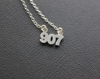 907 Necklace.  Alaska Necklace. Area Code 907.
