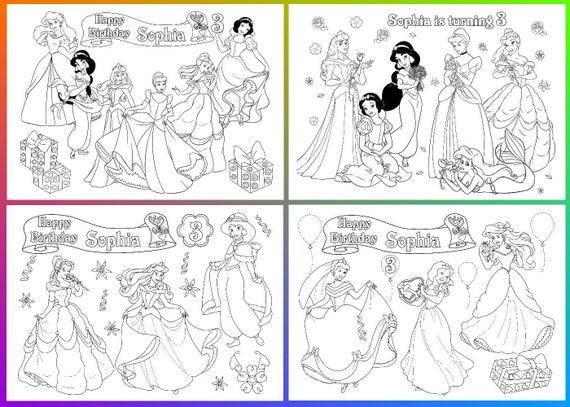 disney princess birthday party disney princess coloring pages activity pdf file - Disney Princess Art And Activity Collection