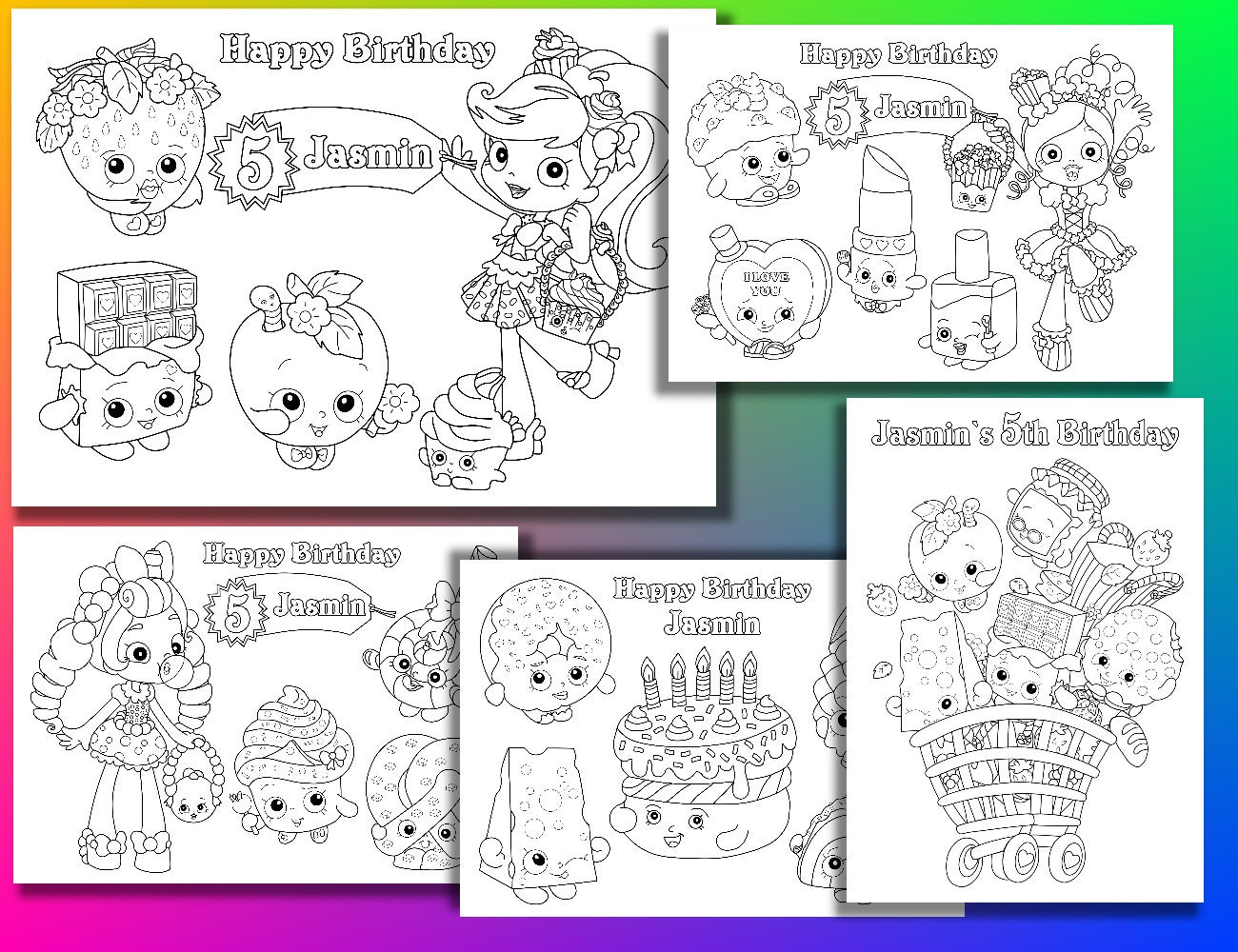 Shopkins Coloring Pages Birthday Party PDF
