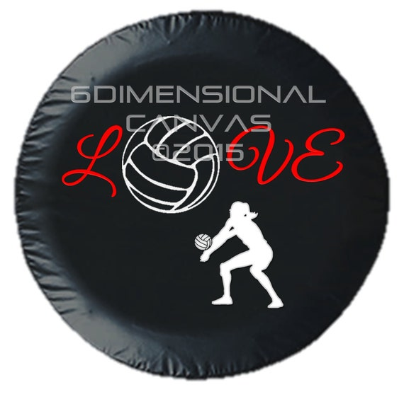 Volleyball Love Tire Cover