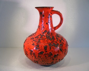 Red Graflich Ortenburg Fat Lava vase