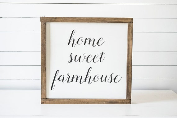 Farmhouse decor home sweet farmhouse sign by cypressandwhim - Home sweet home decorative accessories ...
