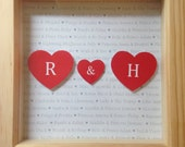 Happily Ever After personalised 3D print in box frame - Monogram, Initials, Disney