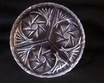 Crystal Clear Lead Crystal Divided Dish (671)