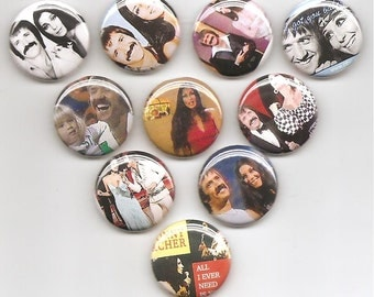 Sony and Cher Set of 10 Pins Button Badge Pinback