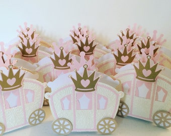 Favor box Princess party 6PC