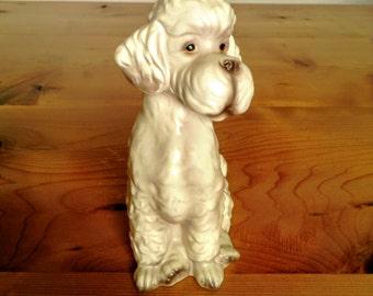 Tall White Poodle Figurine