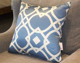 CLEARANCE Pillow cover, cushion cover, decorative cushions, home decor in Geo Blue fabrics