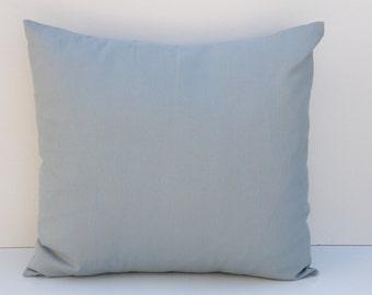 Decorative Pillow Cover, Home Decor, Decorative Pillows, Light Blue/Pale Blue Pillow Sham, Pillow Sham, 18x18, Throw Pillow