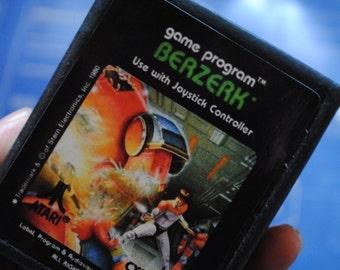 Atari 2600 Cart Soap Parody: Retro and geeky! Handmade cartridge soap - Atari 2600 - Berzerk, retro gamer, novelty, geek