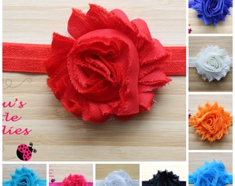 Rosette Headband, Shabby Rose Headband, Birthday Party Headband, Newborn Headband, Baby Gift, Baby Shower Gift, Stocking Stuffers, Free Gift