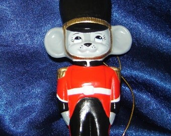 Royal Guard Mouse Ornament - Christmas Ornaments - Ceramic Ornaments - Mouse Ornaments - Mice Ornaments