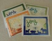 FREE SHIPPING Christmas Nativity Card Set of 4 - Christian, Religious