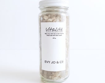 Bath Salts (VITALITÉ) - Dead Sea Salts, Bathing Salts, Natural Bath Salts, Natural Bath Salts, Bath Soak, Vegan, All Natural, Bath and Body
