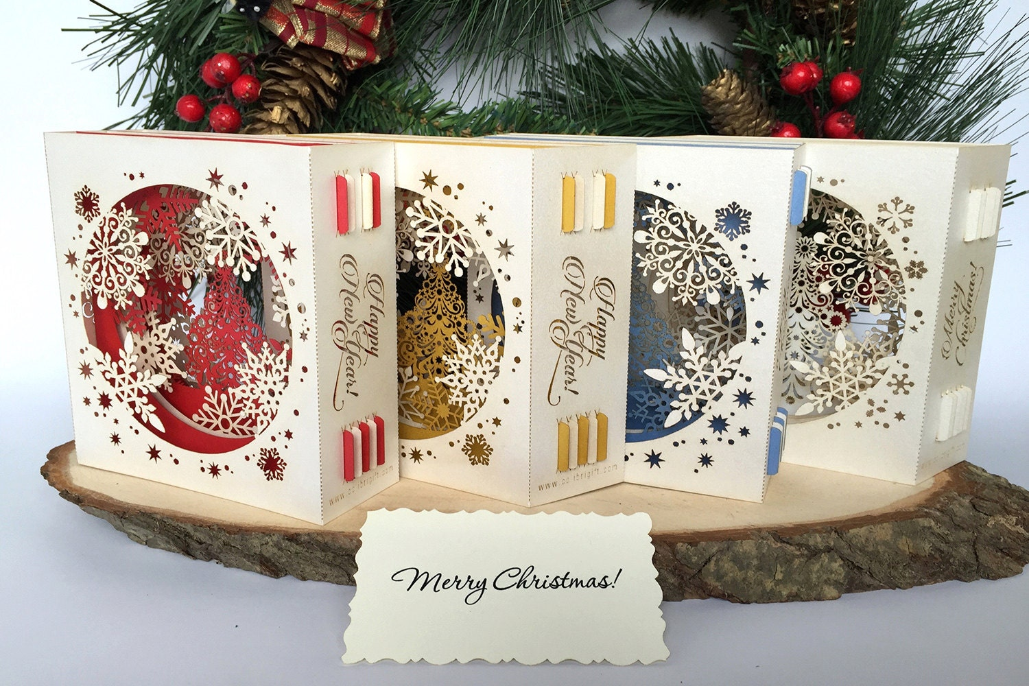 Pop Up Christmas Cards 3d Christmas Gift For Her Christmas