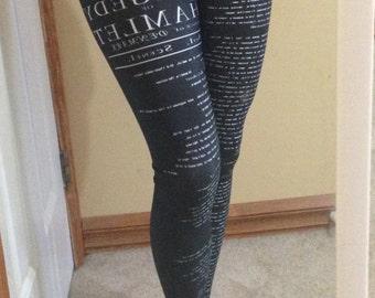 Medium - Shakespeare Hamlet Legging
