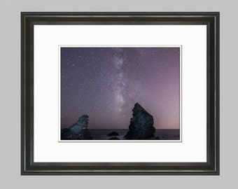 Milky Way, Night Sky, Beach Photography Print