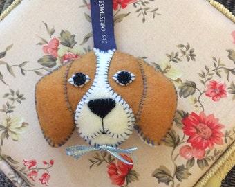 Hand Made Beagle Felt Decoration