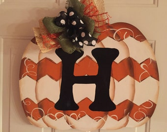 Fall Pumpkin with Initial