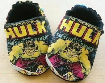 Handmade Hulk Inspired Baby Shoes