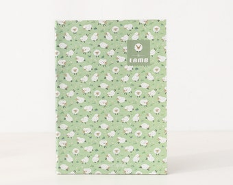 Unique Journal - Cute Lambs [Green]  Lined/Softcover/B5/Animal lover/Perfect for School Notes/Kawaii/Office/Student/Back to School/Cute