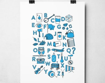 Alphabet Poster - 2 colors available!